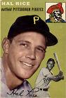 1954 Topps Hal Rice Pittsburgh Pirates #95 Baseball Card