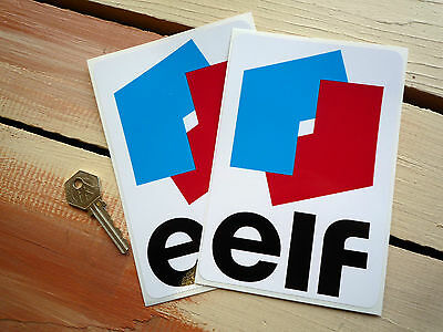 """ELF Classic Style Car Stickers 6.5"""" Pair Race F1 Ligier Tyrrell Jackie Stewart"""