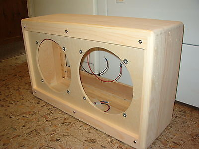 TRM 212 vintage tweed style 2 x 12 guitar extension speaker cabinet project.