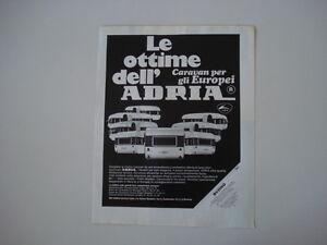 advertising Pubblicità 1970 CARAVAN ADRIA