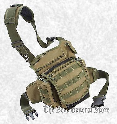 Olive Drab Green EDC Tactical Bag Hunting Hiking Camping Biking Ammo Paint Ball