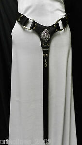 MEDIEVAL-RENAISSANCE-GOTHIC-FAIRY-BLACK-OR-WHITE-LEATHER-BELT