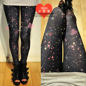 Women-Nightsky-Galaxy-Stars-Leggings-Fashion-Punk-Tight-Funky-Slim-Pants-New