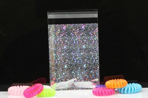 3/'/'x4/'/' Glitter Metallic Lip/&Tape Cello Cellophane Party Favors Gift Bags 100x