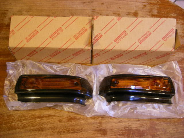 Toyota Ae86 Trueno JDM Kouki Fender Lights Lense Pair New Genuine Rare