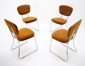 Set-of-4-Vintage-Mid-Century-Modern-Chrome-Chairs-Daystrom-Furniture-Furniture