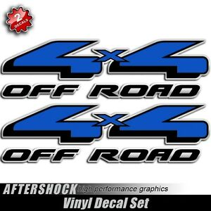 Blue X Truck Decals Off Road Replacemnt Stickers For Ford EBay - 4x4 truck decals