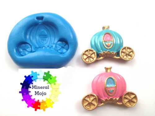 Princess Carriage Silicone Mould Cupcake Toppers, Sugarcraft, Fimo, Jewellery