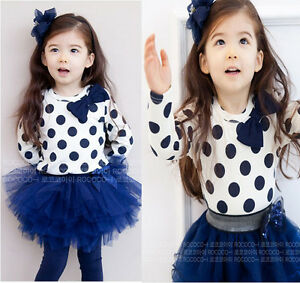 NWT-GIRL-TODDLERs-LONG-SLEEVE-TOP-LEGGINGS-SKIRT-6M-5Y-CLOTHES-OUTFITS-SET-2PCS