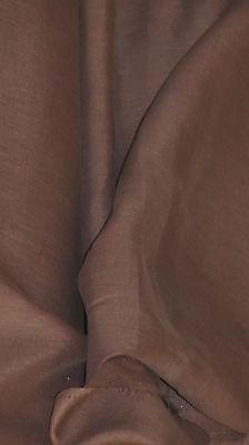 tissu pur lin chocolat haute couture en 150 cm de large au mètre qualité +