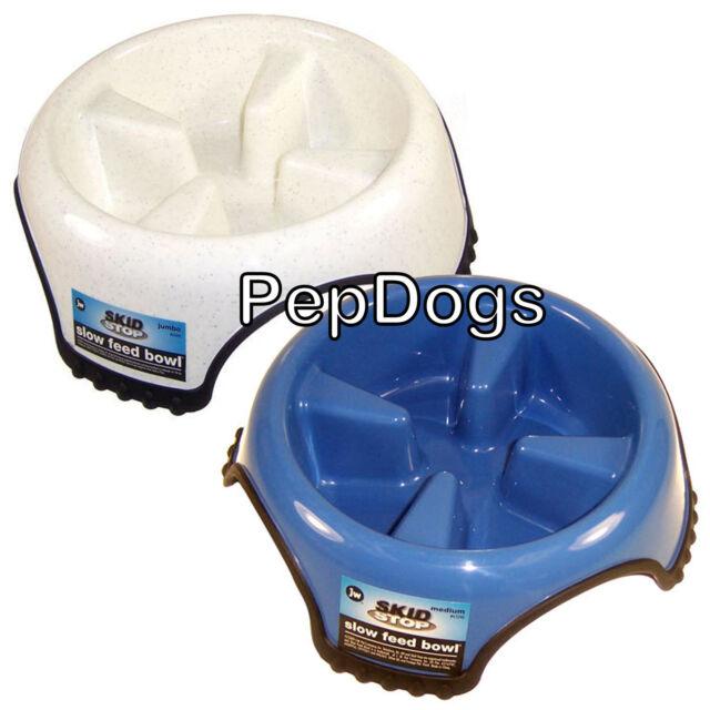 JW SLOW FEED NO SKID Dog BOWL MEDIUM- Stop Fast Eating!