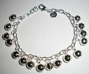 STERLING-SILVER-925-BELLS-CHAIN-LINK-BRACELET-7-1-2-INCHES-LONG