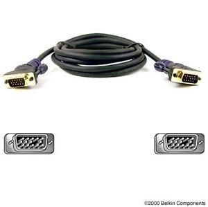Belkin (f2n028-06-gld) 1.8 M Câble Du Moniteur-) 1.8 M Monitor Cable Fr-fr Afficher Le Titre D'origine ExtrêMement Efficace Pour Conserver La Chaleur