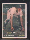 1957 Topps Billy Martin #62 Baseball Card