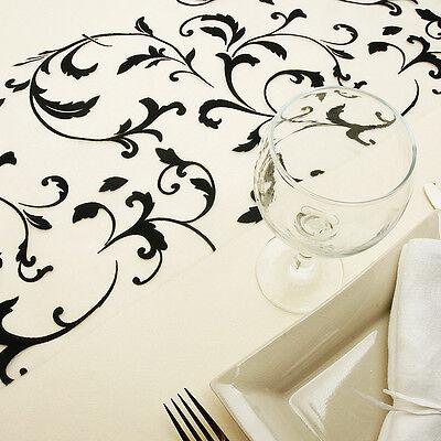 CHEMIN DE TABLE BAROQUE 28cm/5m. DECO TABLE MARIAGE DECORATION MARIAGE NOIR