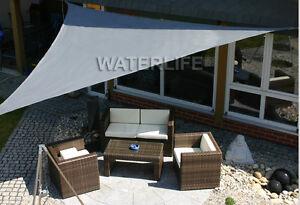 voile d 39 ombrage imperm able d perlant toile solaire taud de soleil 3x3x3 m gris ebay. Black Bedroom Furniture Sets. Home Design Ideas