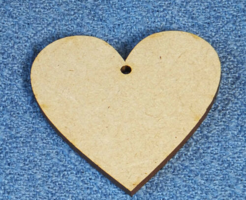 10 x Wooden MDF Hearts Craft Shapes scrap booking 3.5cm 4.5cm 5.5cm x 3mm thick