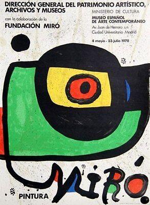 Miro Pintura, 1978 Exhibition Poster, Joan Miro
