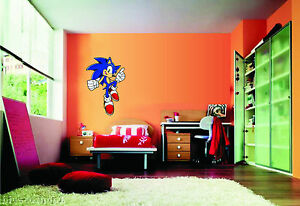 Image Is Loading WALL STICKERS STICKER ADESIVO MURALE DESIGN SONIC THE  Part 94