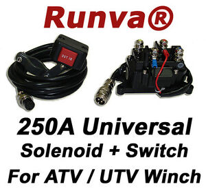 ON-SALE-New-Runva-250A-Universal-Electric-Winch-Solenoid-12V-And-ATV-UTV-Switch