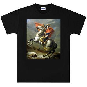 Napoleon-Bonaparte-on-Marengo-T-Shirt-New-Black-or-White