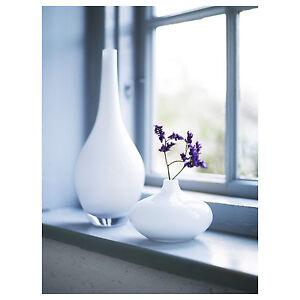 Ikea Glass Vases Salong White Vase Unique Mouth Blown Modern Vase New Ebay