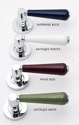 High Quality Porcelain Ceramic Door Lever Handles, in Various Colours