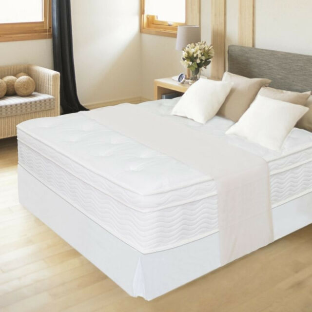 """NEW 12"""" NIGHT THERAPY EURO BOX TOP SPRING MATTRESS TWIN FULL QUEEN KING SIZE"""