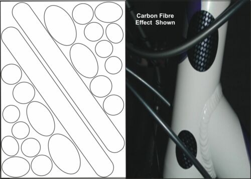 CHAINSTAY AND FRAME PROTECTOR SET FOR BICYCLE BIKE CYCLE CARBON FIBRE EFFECT