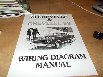 1973 Chevrolet Chevelle Wiring Diagram Manual Ebay