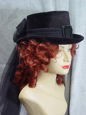 Victorian Regency Edwardian Downton style riding dressage hat ladies riding hat