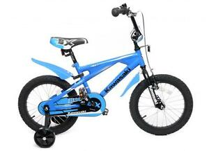 KAWASAKI-16-WHEEL-BOYS-BMX-BIKE-WITH-STABILISERS-AGE-5-YEARS-MAY-BE-MARKED