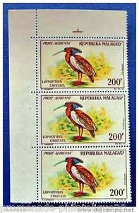 MADAGASCAR-timbre-stamp-aerien-yvert-et-tellier-n-91x3-n