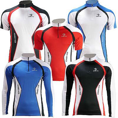 Deko Air Mens Cycling Bike Quality Outdoor Sports long short sleeve Jersey Top