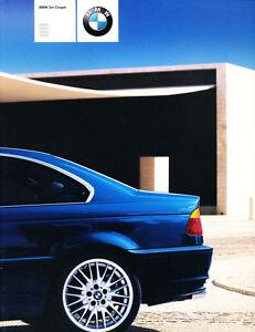 2000 BMW 318Ci 320Ci 325Ci 330Ci 24page German Sales Brochure