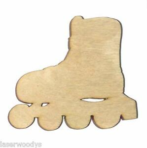 Roller-Skate-Unfinished-Wood-Shape-RS8009-Laser-Crafts-Lindahl-Woodcrafts