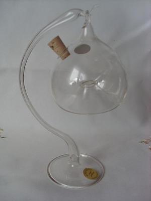 Fliegenfalle Lauscha Glas Handarbeit mundgeblasen Obstfliegen Glasständer