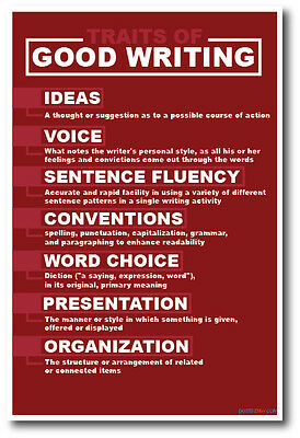 Good Writing Traits - NEW Language Arts Classroom Motivational POSTER