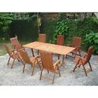 Vifah 9-Piece Outdoor Wood Dining Set With Rectangle Extension Table (V232SET4)