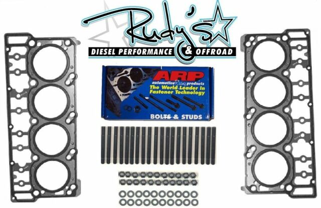 ARP 6.0L Ford Powerstroke Diesel Head Stud Kit Head Gaskets 03-06 250-4202 18mm