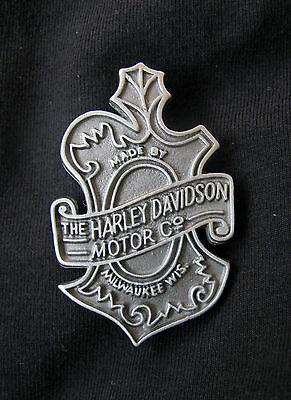 VINTAGE HARLEY-DAVIDSON LARGE OAK LEAF MOTORCYCLE JACKET VEST PIN