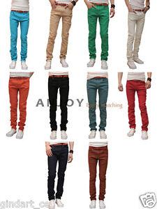 Mens-Slim-Fit-Fashion-Casual-Skinny-Stretch-Pencil-Jeans-Pants-Denim-Trousers