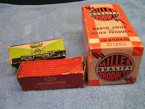 Miller-RCA-Philco-Military-Radio-TV-Parts-Coils-IF-amp-RF-Transformers-Chokes