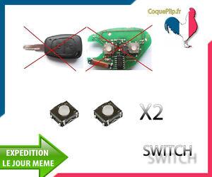 2X Bouton Switch pour Télécommande clé Plip Renault