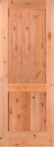 2 panel flat shaker knotty alder stain grade solid core - Knotty alder interior doors sale ...
