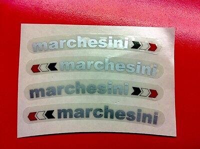 Adesivi Ducati Cerchi MARCHESINI Argento + Bandierina