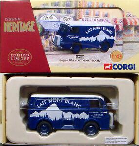 CORGI-FRENCH-HERITAGE-Peugeot-D3A-Van-Lait-Mont-Blanc-EX70628