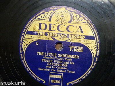 78 rpm FRANK WEIR SAXOPHONE the little shoemaker / the never never land