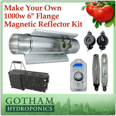 1000w HPS MH Grow Light Kit 6 in Magnetic Reflector Ballast Hydro Timer 1000w