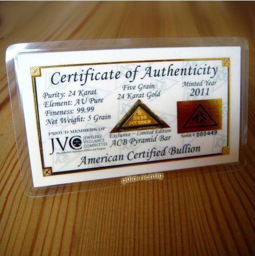 1 Goldbarren 0,324 Gramm + Pyramide + Zertifikat (999,9 Gold Barren Münze Neu)